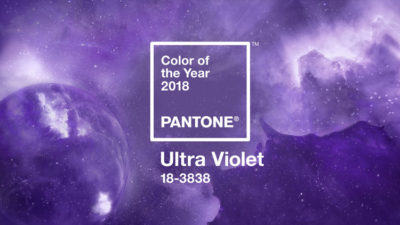 Ultra Violet. Color Pantone 2018.